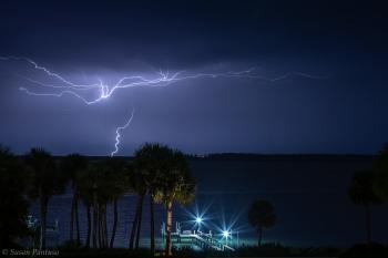 Lightning Over the Lagoon