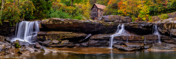 Misty Morning at Glade Creek Grist Mill