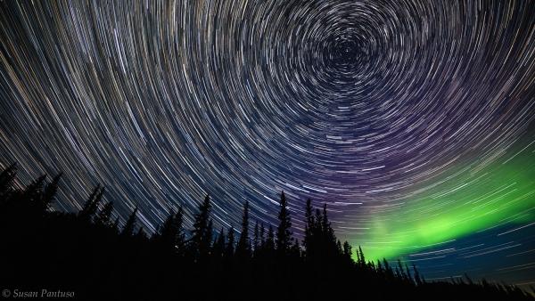 Star Trails and Aurora