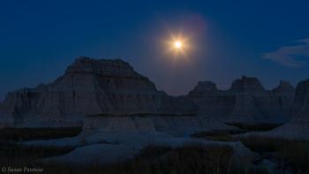 Moonrise Over the Badlands