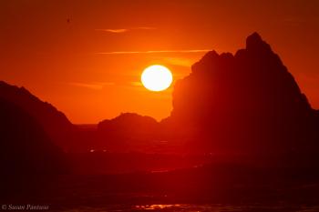 Sunset at the Sea Stacks